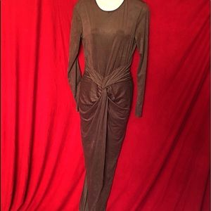 ROOM SERVICE- Velvety Brown flowing Gown